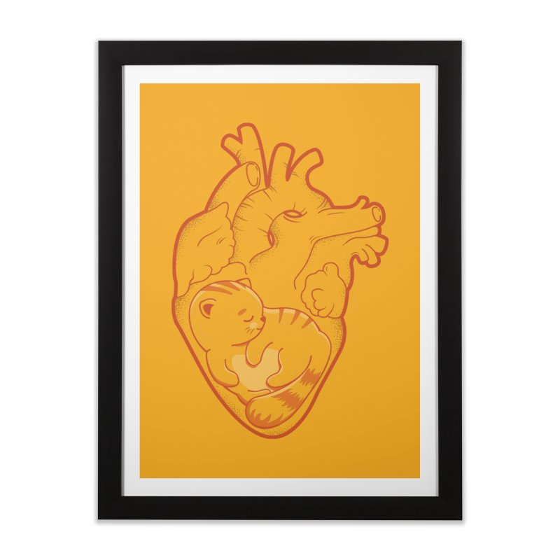 Cat at Heart Home Framed Fine Art Print by GED WORKS