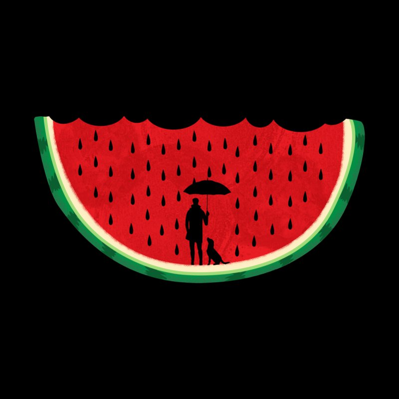 Watermelon Rain Women's T-Shirt by GED WORKS
