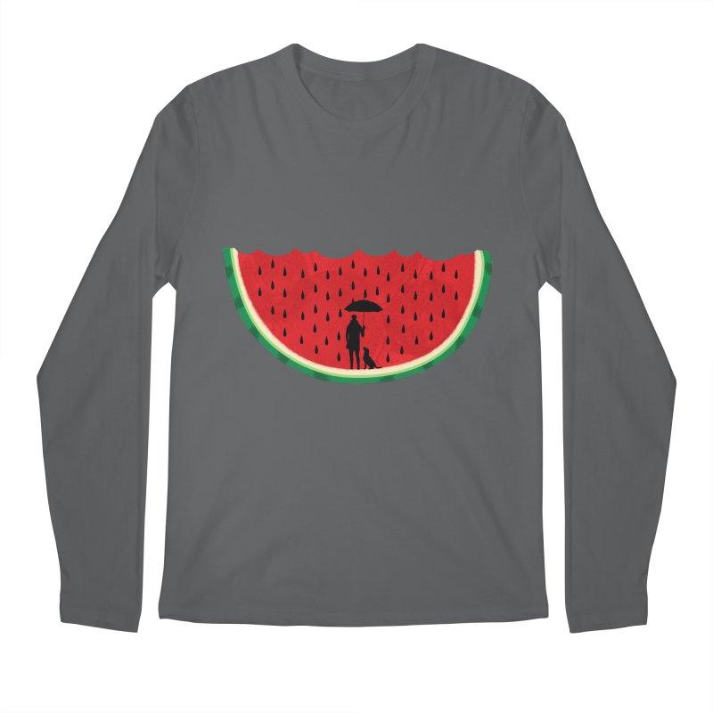 Watermelon Rain Men's Longsleeve T-Shirt by GED WORKS