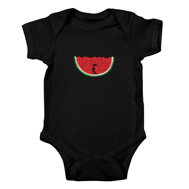 Watermelon Rain Kids Baby Bodysuit by GED WORKS