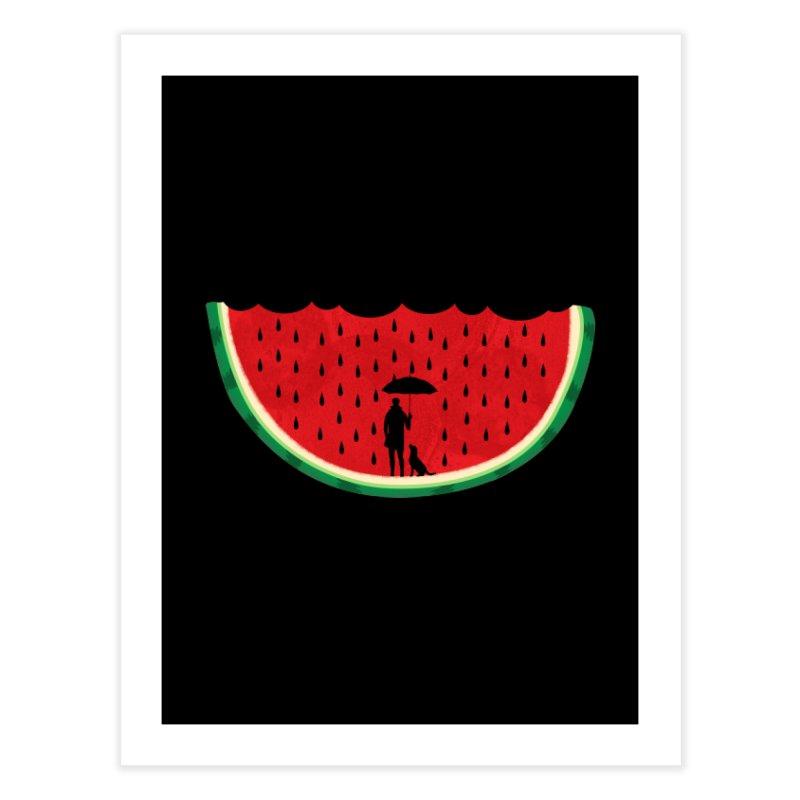 Watermelon Rain Home Fine Art Print by GED WORKS