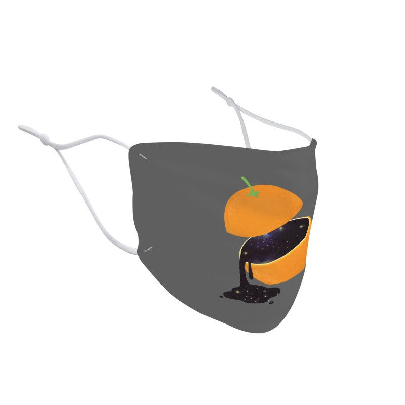 Orange Universe Accessories Face Mask by GED WORKS