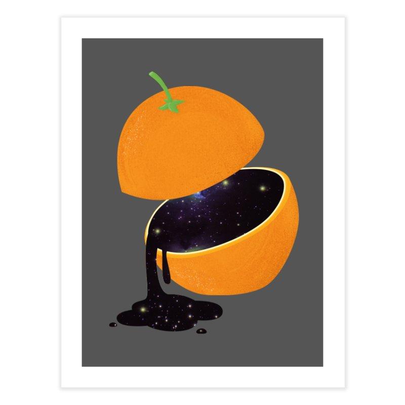 Orange Universe Home Fine Art Print by GED WORKS