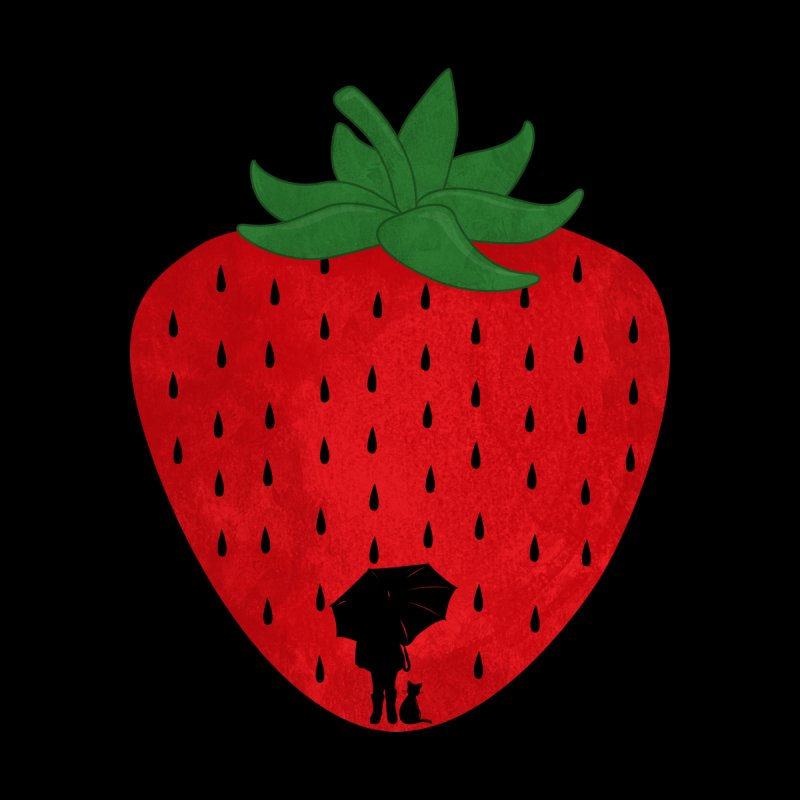 Strawberry Rain Kids Baby T-Shirt by GED WORKS