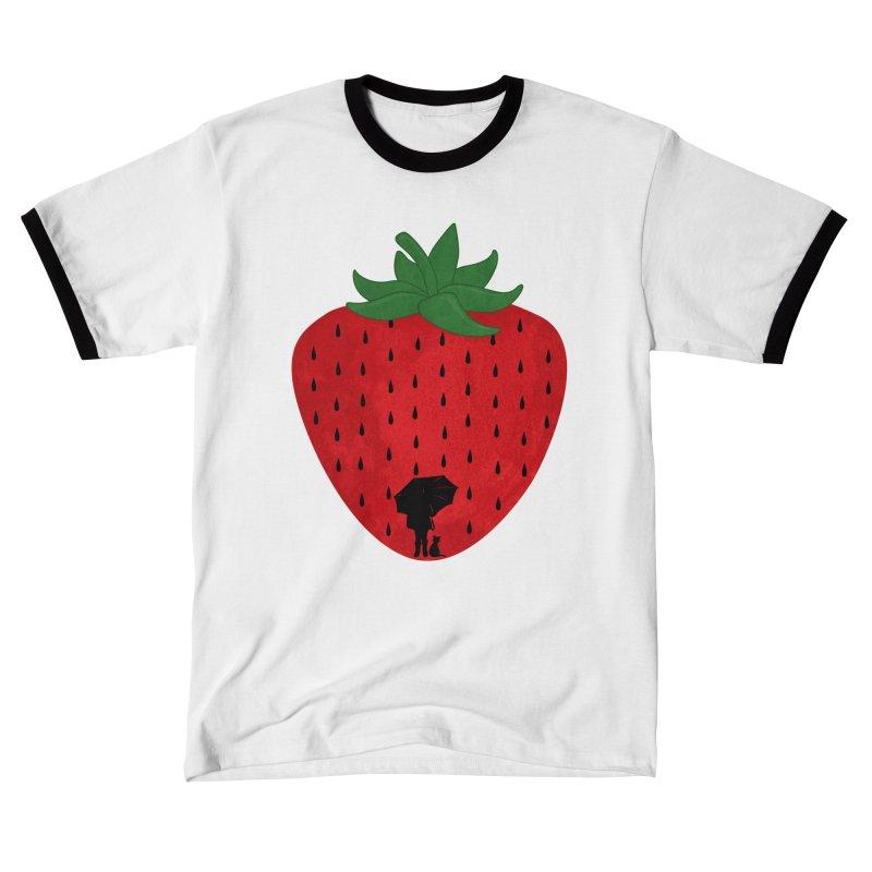 Strawberry Rain Women's T-Shirt by GED WORKS