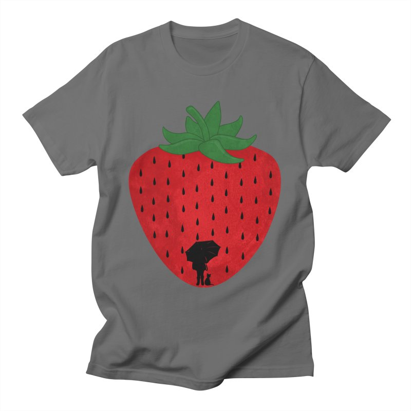 Strawberry Rain Men's T-Shirt by GED WORKS