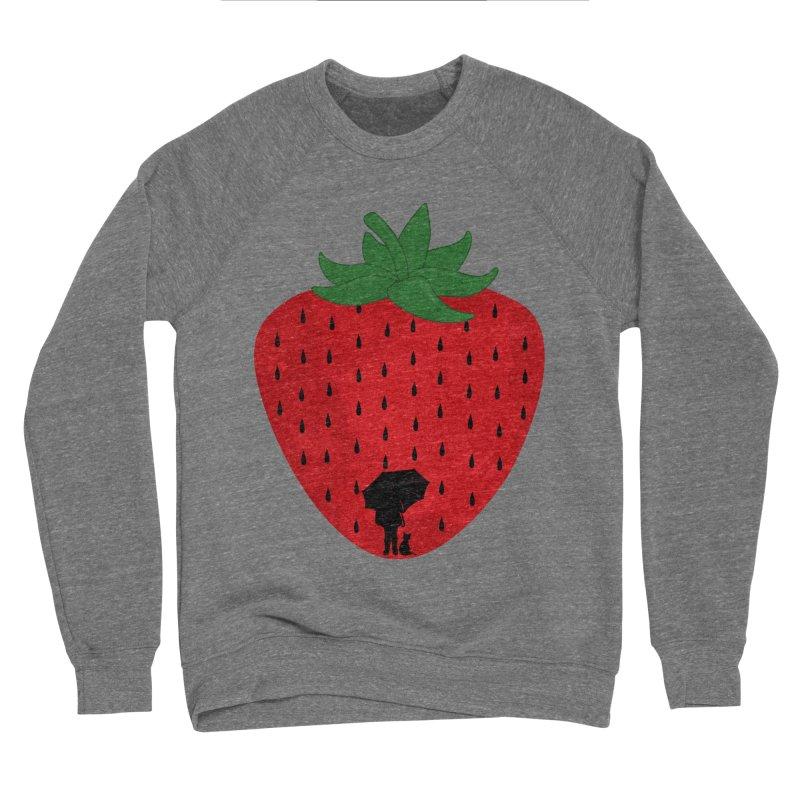Strawberry Rain Women's Sweatshirt by GED WORKS