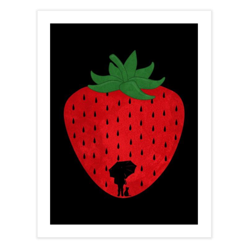 Strawberry Rain Home Fine Art Print by GED WORKS