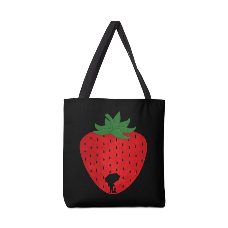 Strawberry Rain Accessories Bag by GED WORKS