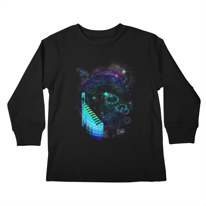 Time Traveler Kids Longsleeve T-Shirt by GED WORKS