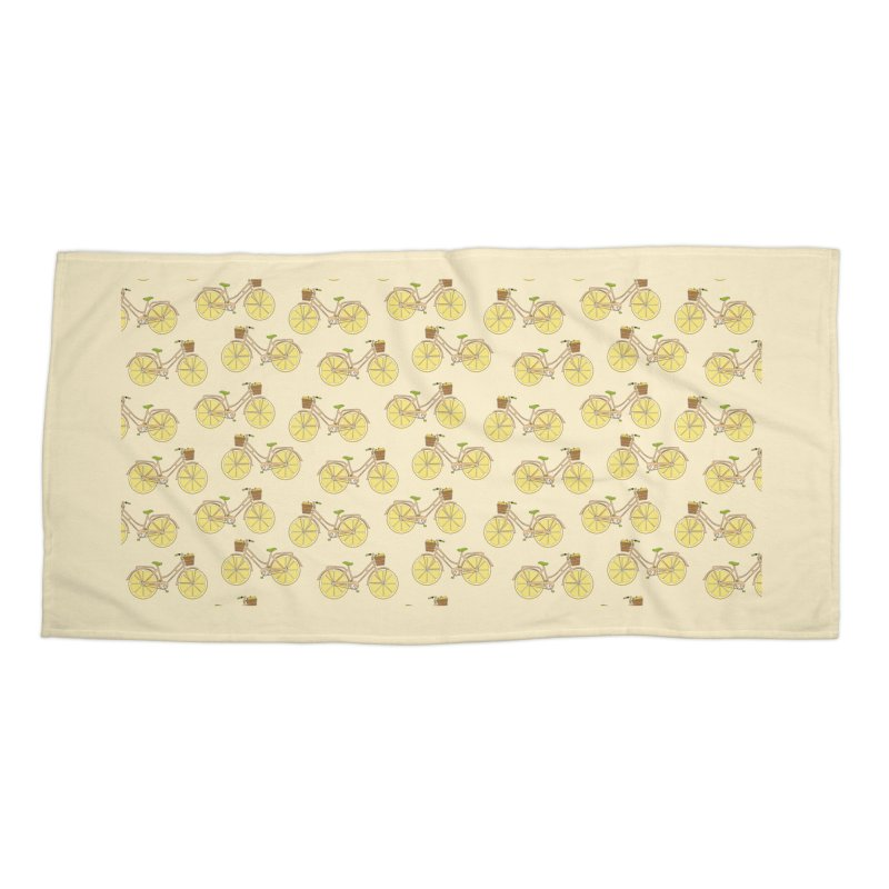Lemon Ride Accessories Beach Towel by GED WORKS