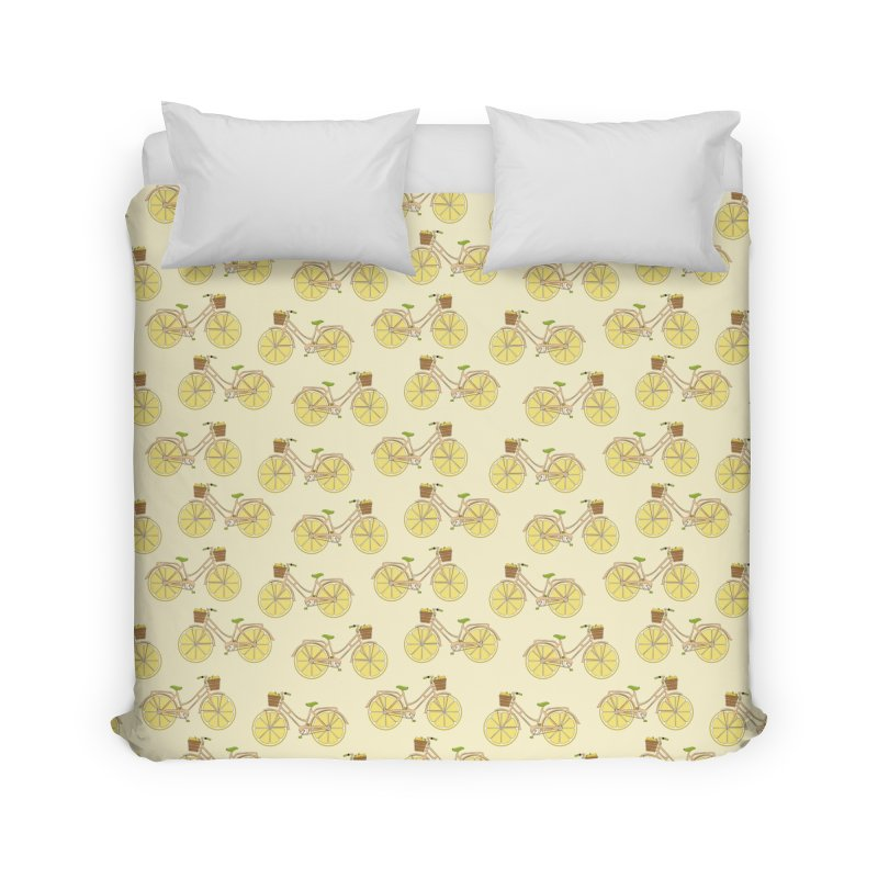 Lemon Ride Home Duvet by GED WORKS