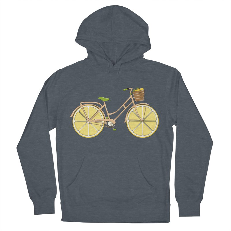 Lemon Ride Women's French Terry Pullover Hoody by GED WORKS