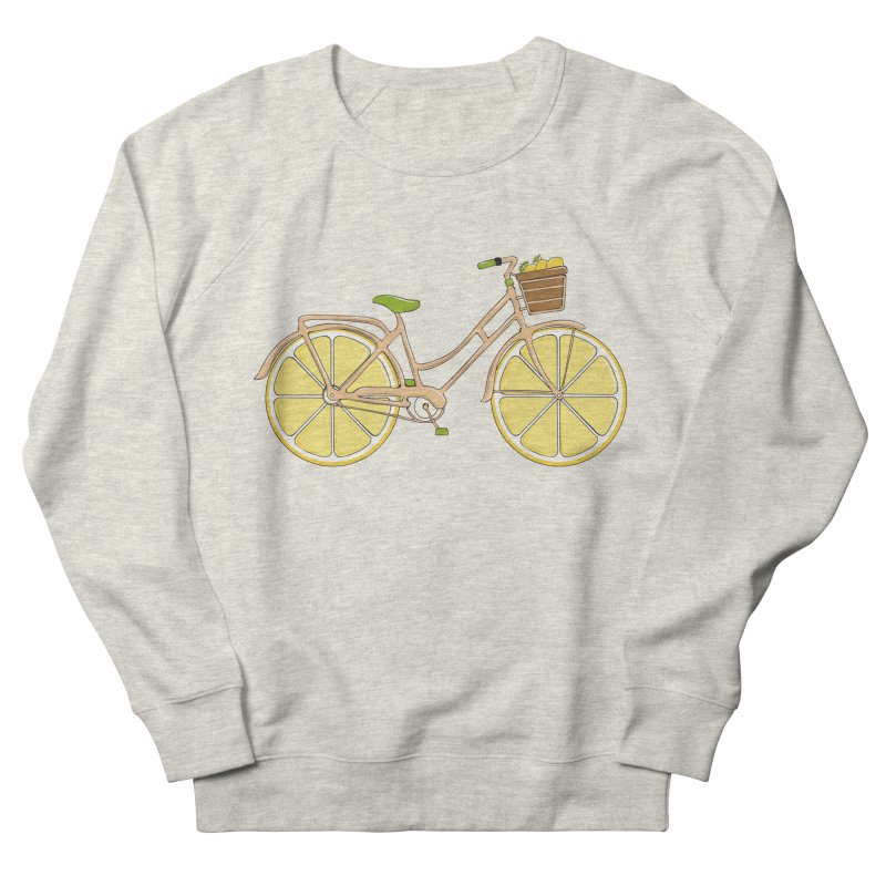 Lemon Ride Women's French Terry Sweatshirt by GED WORKS
