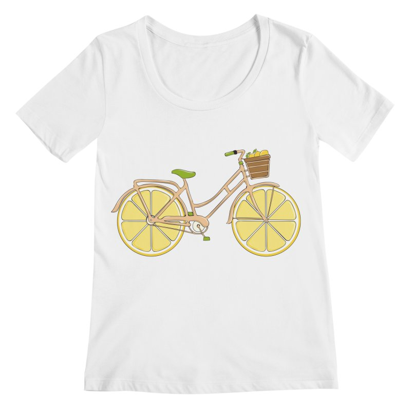 Lemon Ride Women's Regular Scoop Neck by GED WORKS