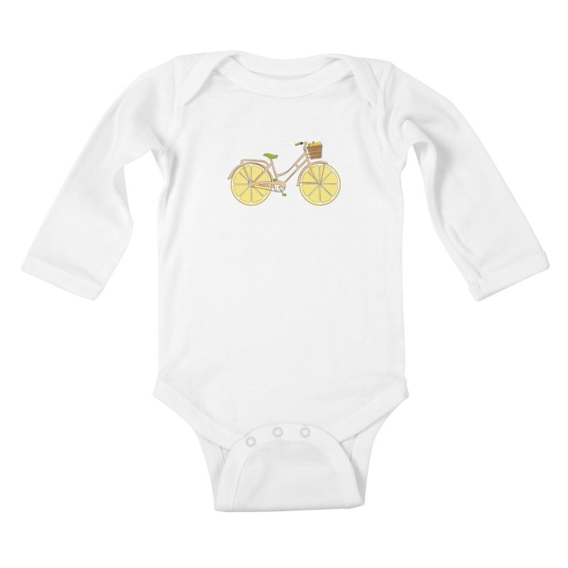 Lemon Ride Kids Baby Longsleeve Bodysuit by GED WORKS