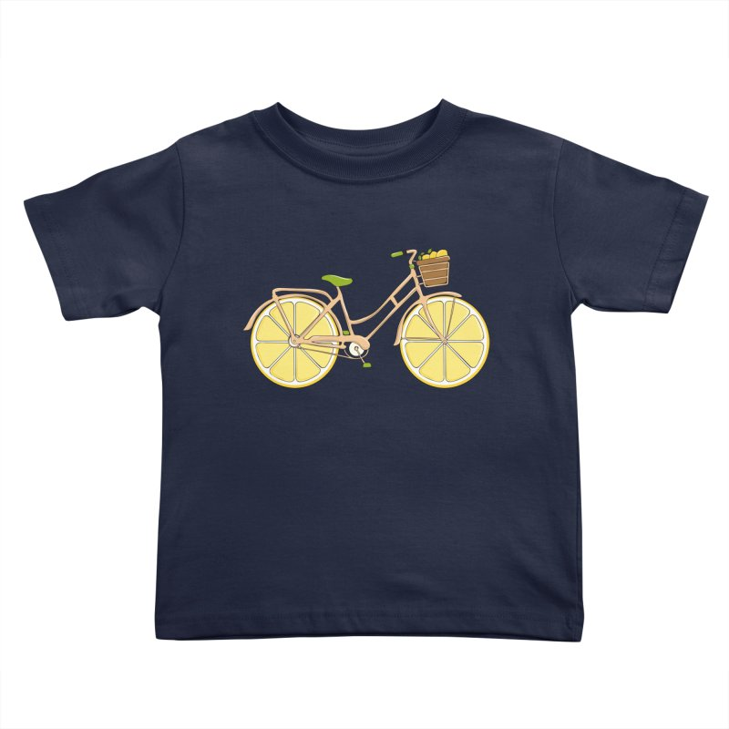 Lemon Ride Kids Toddler T-Shirt by GED WORKS
