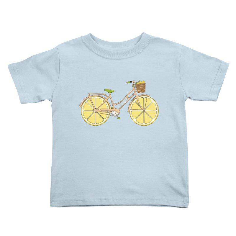 Lemon Ride Kids Toddler T-Shirt by GED WORKS