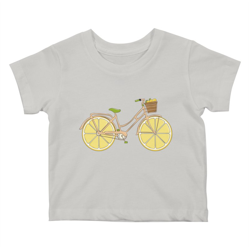 Lemon Ride Kids Baby T-Shirt by GED WORKS