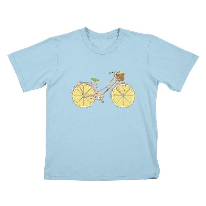Lemon Ride Kids T-Shirt by GED WORKS