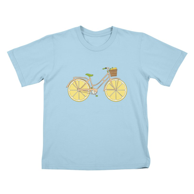 Lemon Ride Kids T-shirt by GED WORKS