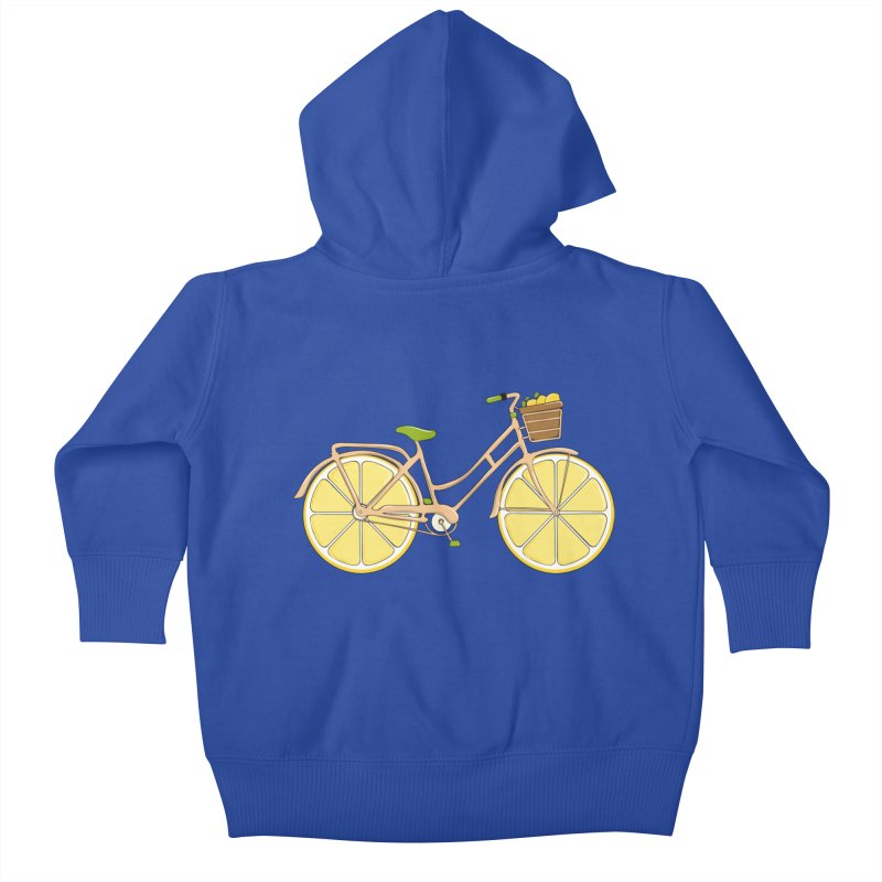 Lemon Ride Kids Baby Zip-Up Hoody by GED WORKS