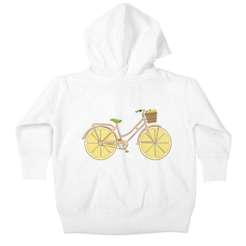 Lemon Ride Kids Baby Zip-Up Hoody by GED WORKS