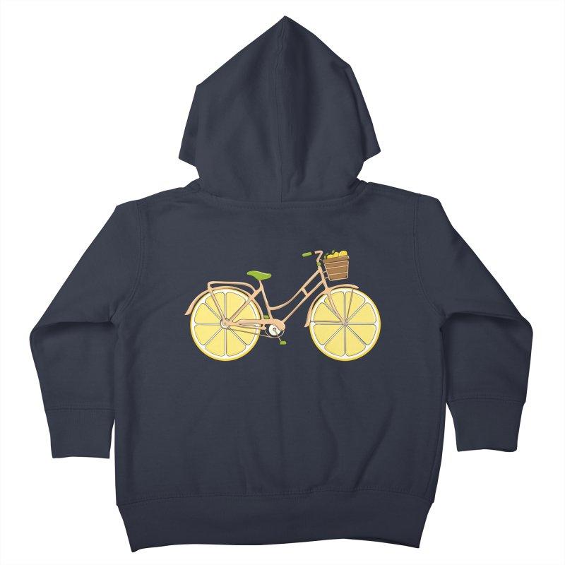 Lemon Ride Kids Toddler Zip-Up Hoody by GED WORKS