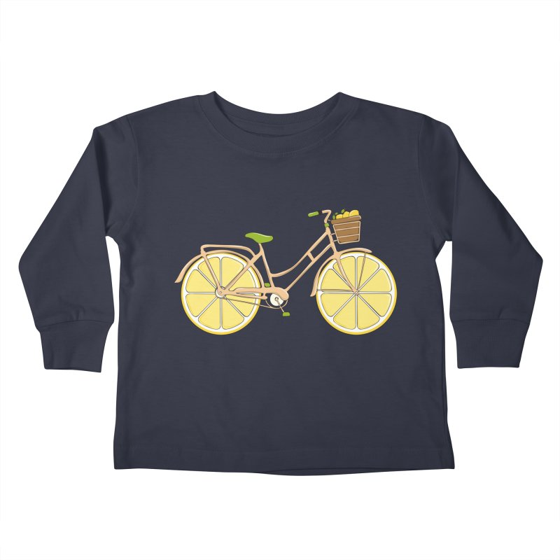 Lemon Ride Kids Toddler Longsleeve T-Shirt by GED WORKS