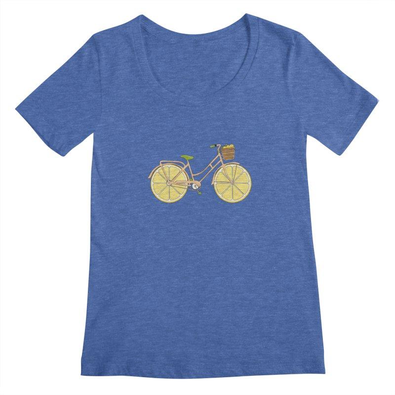 Lemon Ride Women's Scoopneck by GED WORKS