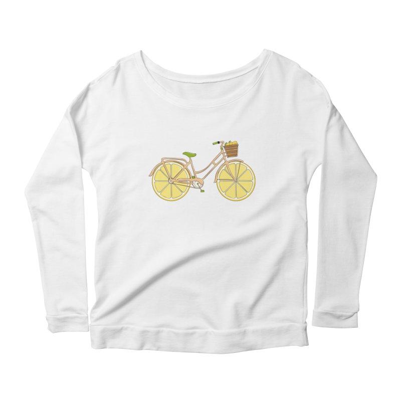 Lemon Ride Women's Longsleeve Scoopneck  by GED WORKS