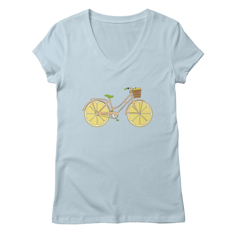 Lemon Ride Women's V-Neck by GED WORKS