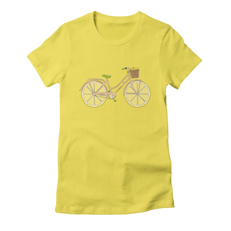 Lemon Ride Women's Fitted T-Shirt by GED WORKS