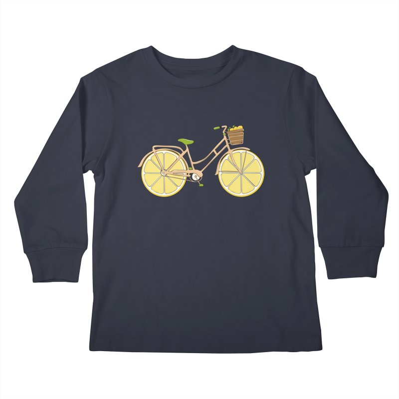 Lemon Ride Kids Longsleeve T-Shirt by GED WORKS