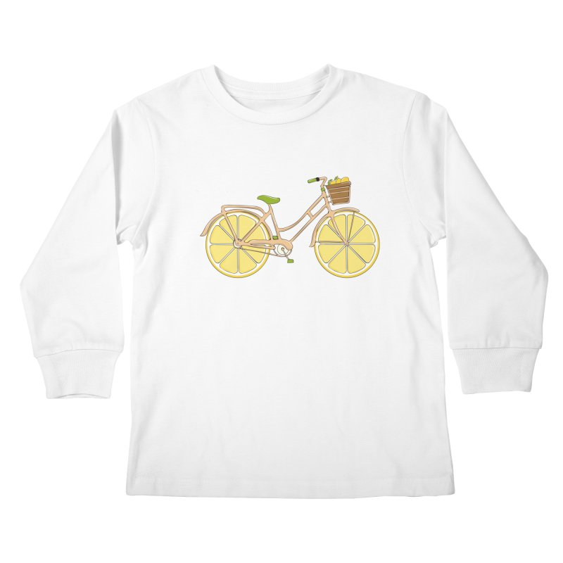 Lemon Ride Kids Longsleeve T-Shirt by GED WORKS