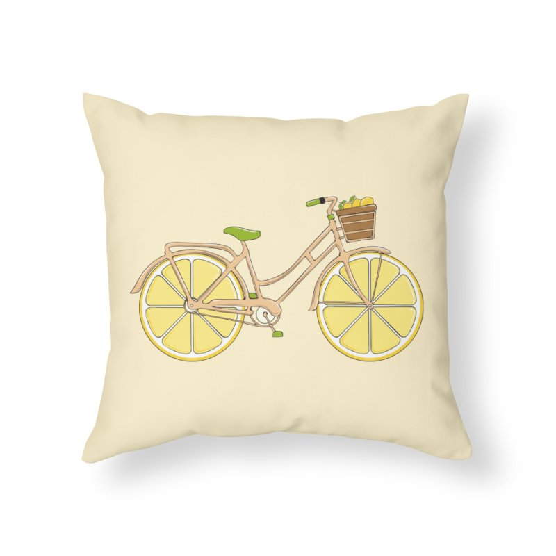 Lemon Ride Home Throw Pillow by GED WORKS