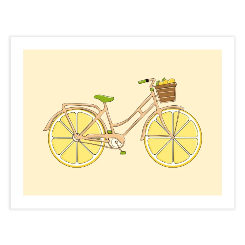 Lemon Ride Home Fine Art Print by GED WORKS