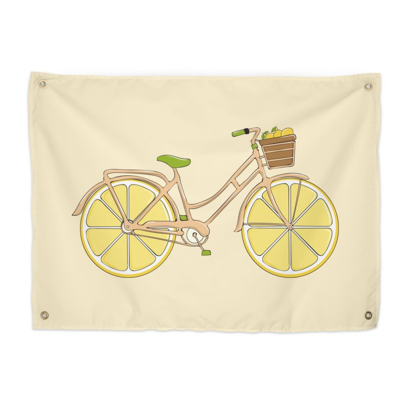 Lemon Ride Home Tapestry by GED WORKS