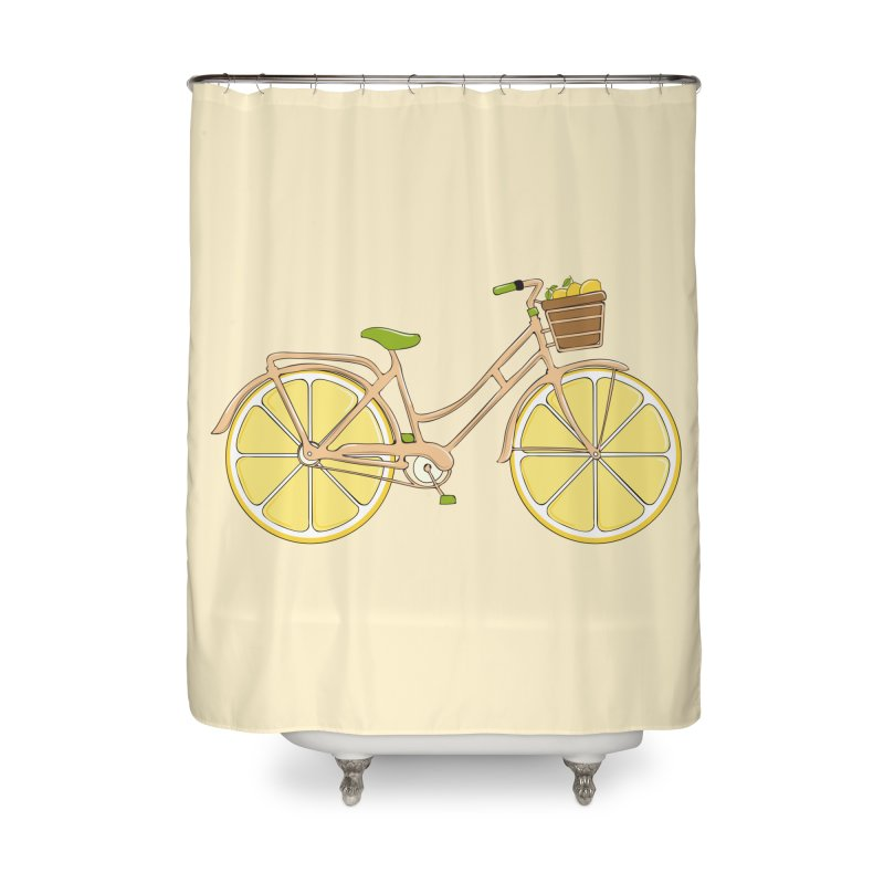 Lemon Ride Home Shower Curtain by GED WORKS
