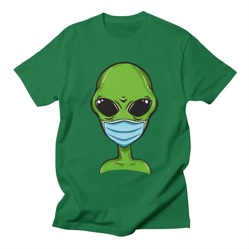 Alien Pro-Facemask Men's T-Shirt by GED WORKS