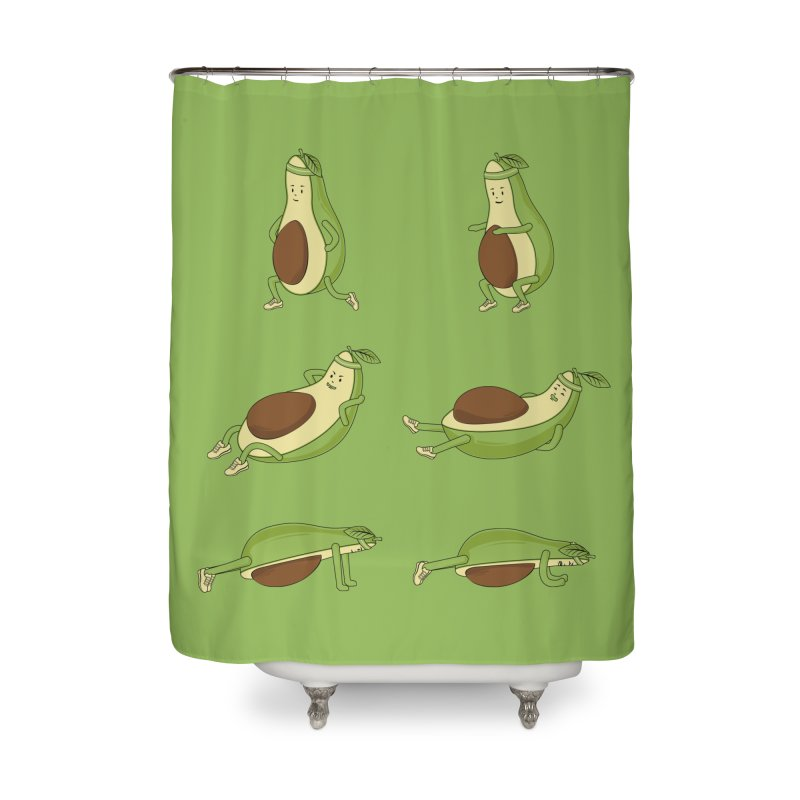 Avocado Core Workout Home Shower Curtain by GED WORKS