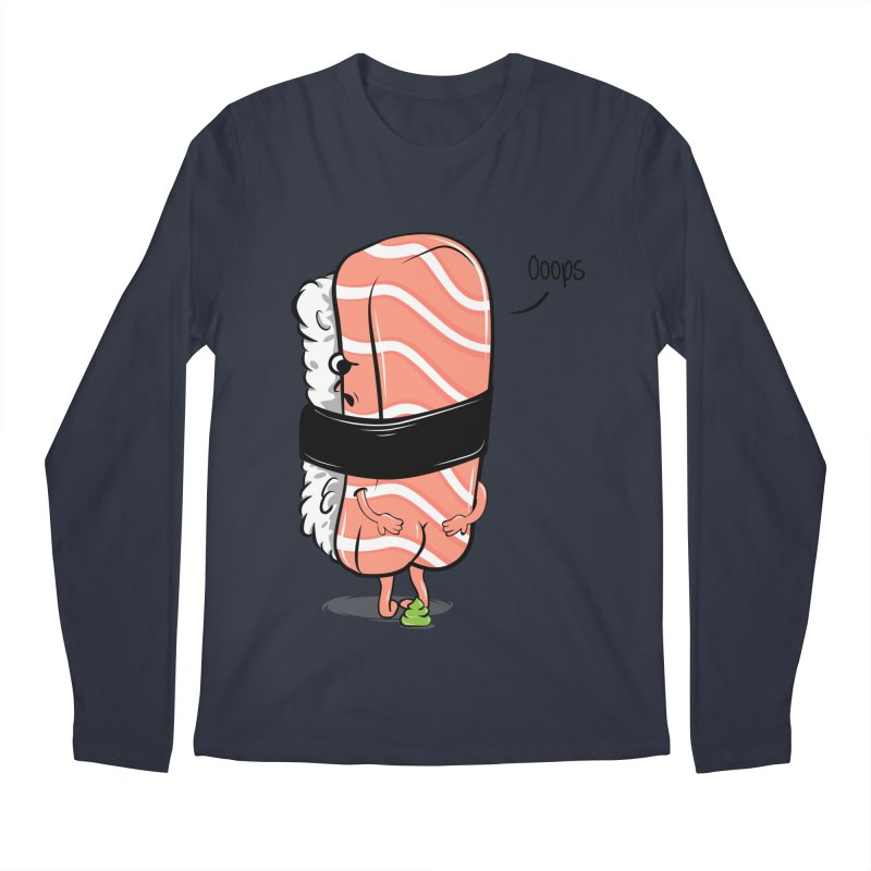 Sushi Poops Wasabi Men's Regular Longsleeve T-Shirt by GED WORKS