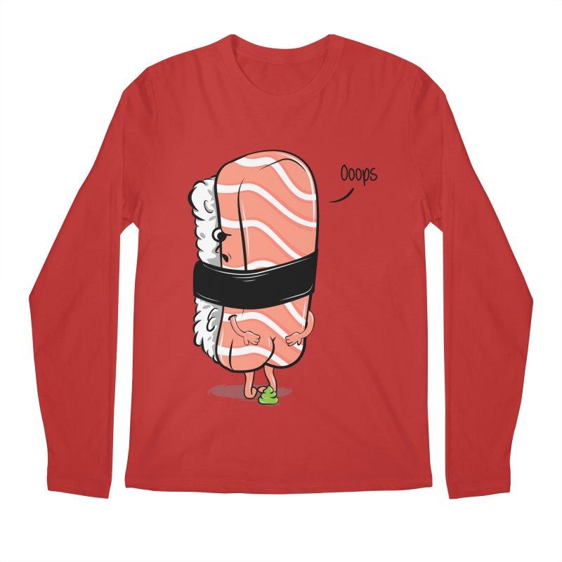 Sushi Poops Wasabi Men's Regular Longsleeve T-Shirt by GED WORKS