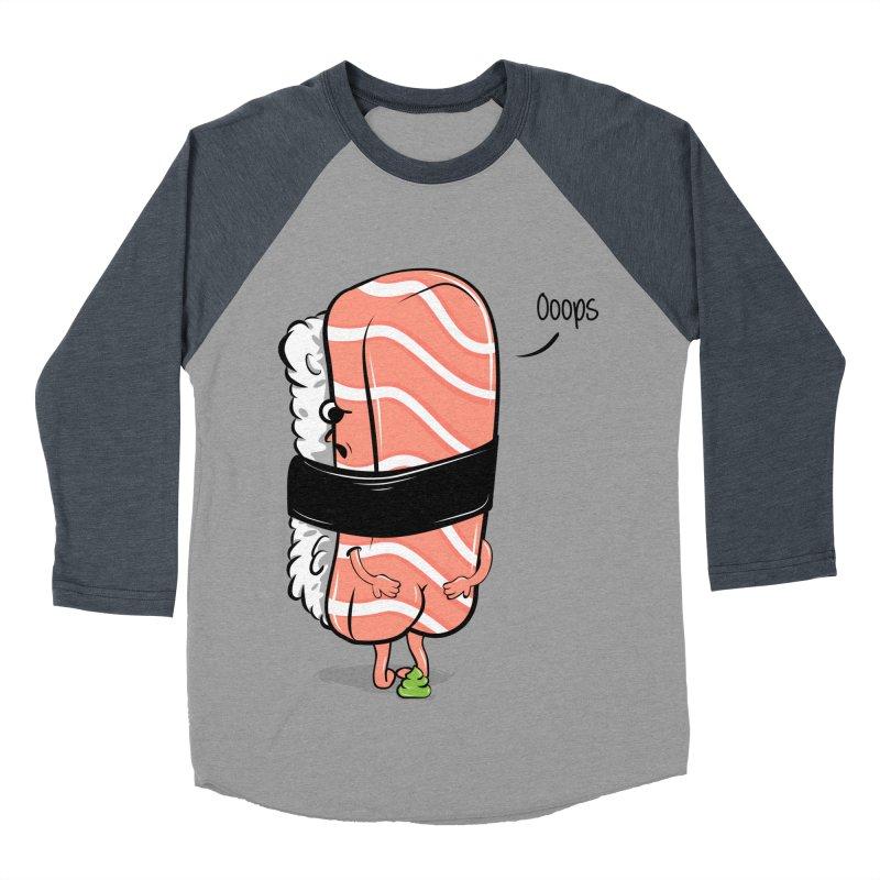 Sushi Poops Wasabi Men's Baseball Triblend Longsleeve T-Shirt by GED WORKS