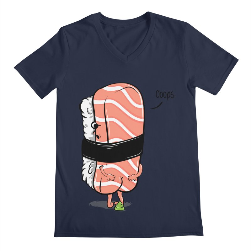 Sushi Poops Wasabi Men's Regular V-Neck by GED WORKS