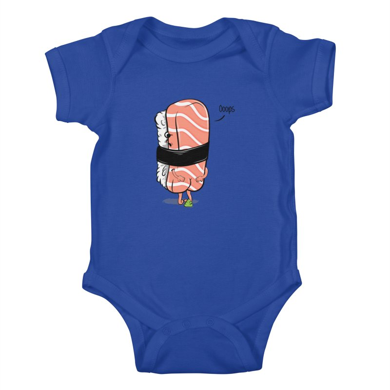 Sushi Poops Wasabi Kids Baby Bodysuit by GED WORKS