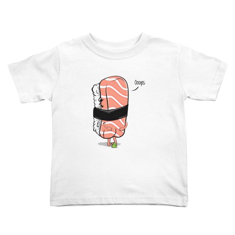 Sushi Poops Wasabi Kids Toddler T-Shirt by GED WORKS