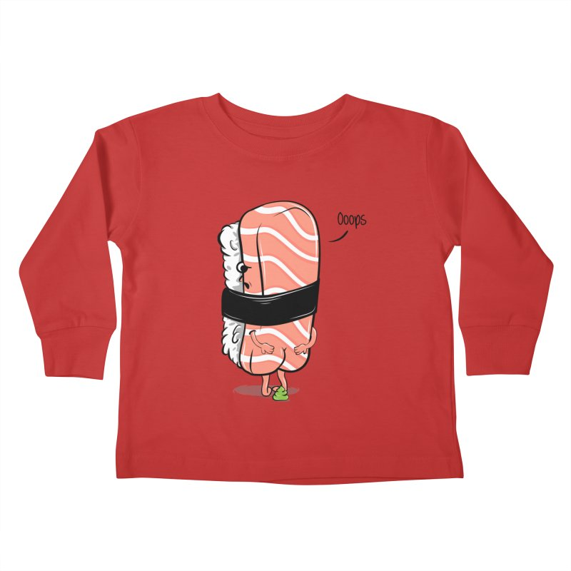 Sushi Poops Wasabi Kids Toddler Longsleeve T-Shirt by GED WORKS