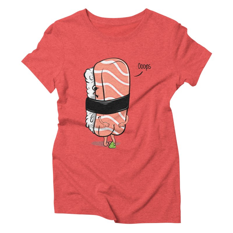 Sushi Poops Wasabi Women's Triblend T-Shirt by GED WORKS