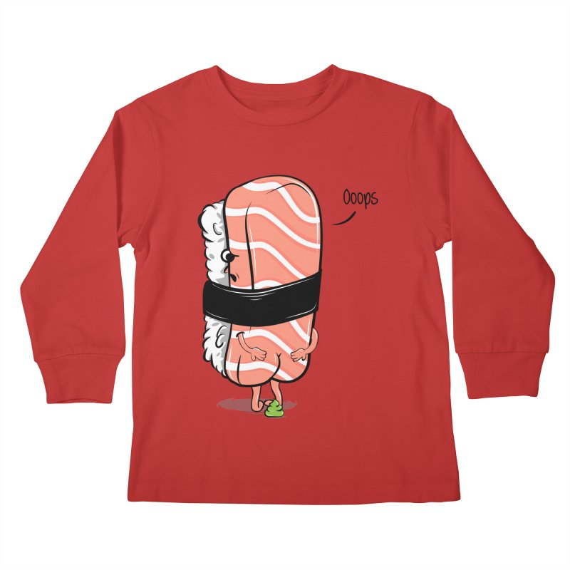 Sushi Poops Wasabi Kids Longsleeve T-Shirt by GED WORKS
